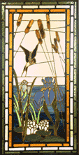 Reeds and Swallow panel